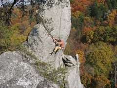 Rock Climbing Photo: Top of the Strawberry Jam (5.8+). This is a short ...