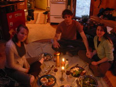 Rock Climbing Photo: Giving Thanks with the in-laws in a yurt in CO. Do...