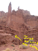 Rock Climbing Photo: This is about where the unknown spire is... Just a...