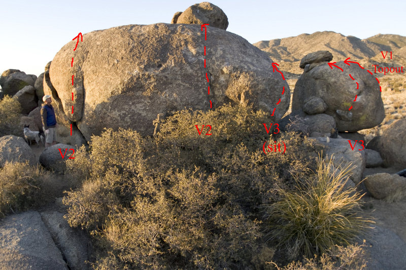 Rock Climbing Photo: View of west cluster from the south at sunset