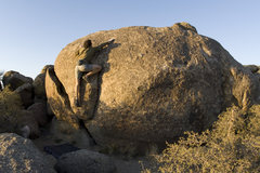 Rock Climbing Photo: Africa (V2). Goes up the east coast of the detache...