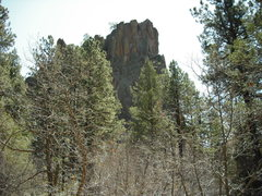 Rock Climbing Photo: Battleship Rock from the parking lot.