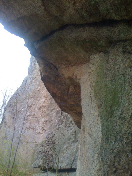Rock Climbing Photo: Bushwhack Crack start.