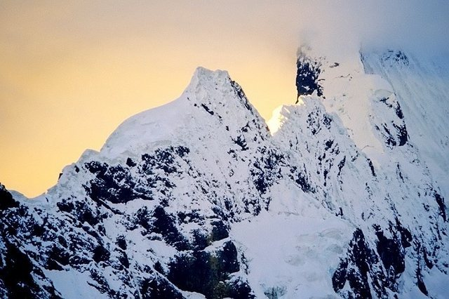 Rock Climbing Photo: Pucahrica ridge at sunset.