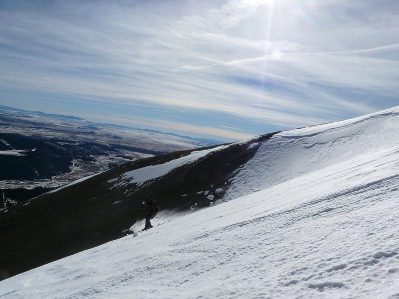Mt. Bross Winter ski descent Moose Gulch Skier:Austin Porzak  Photo: Geoff E.