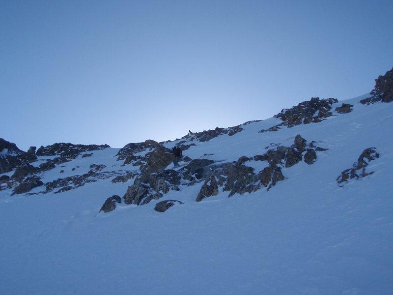 Mt. Elbert Box Creek Cirque Winter ski descent<br> Skier: Austin Porzak  Photo: Beau Burris