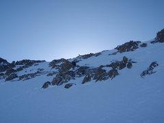 Rock Climbing Photo: Mt. Elbert Box Creek Cirque Winter ski descent Ski...