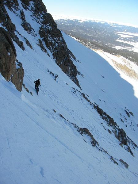 Rock Climbing Photo: Skier: Beau Burris.  Box Creek Mt. Elbert