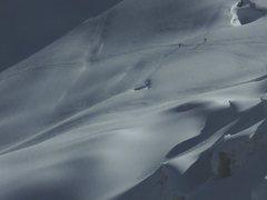 Rock Climbing Photo: Climbers on the glacier below Nev. Ishinca