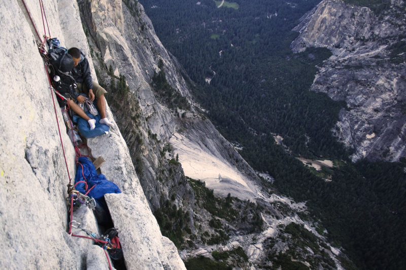 Rock Climbing Photo: Not too bad of a bivy if you don't want to share B...