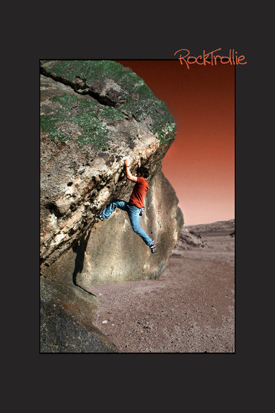 Rock Climbing Photo: Breaking Point, V2 SunSet Boulders Wy