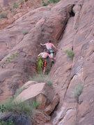 Rock Climbing Photo: scrambling to set some anchors