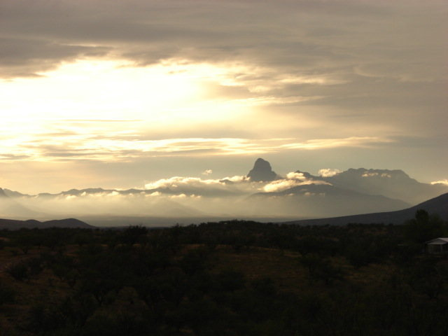 The peak from my yard in Arivaca. Just kind of calls to you.