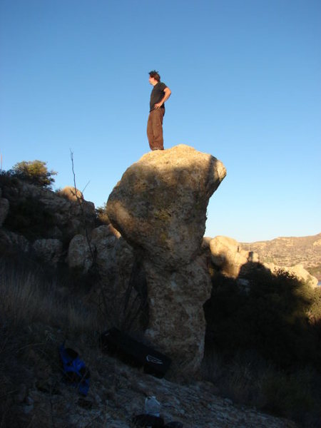 Rock Climbing Photo: The first problem done by Chris Walsh, not shown.S...