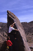 Rock Climbing Photo: Casual spot. Open space Boulders Albuquerque NM.