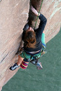Rock Climbing Photo: Leah's final approach. i tried capturing the best ...