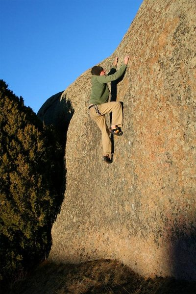Rock Climbing Photo: Rugged flat angle to show the degree of this route...