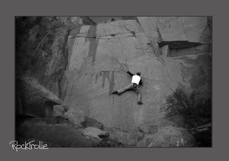Rock Climbing Photo: view of the overall wall, you can see as the moist...