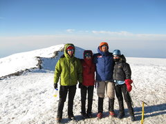 Rock Climbing Photo: Summit of Mt. Rainier with IMG guides.  6 Aug 2008...