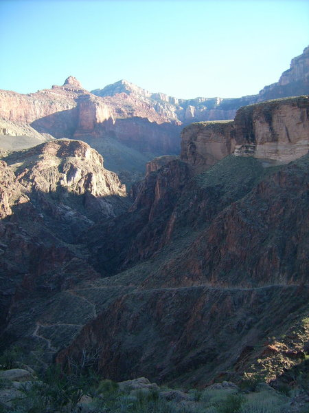 Bright Angel Trail, Grand Canyon, 2007.  Rim-to-river-to-rim in one afternoon.