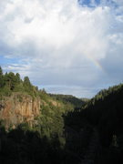 Rock Climbing Photo: Rainbow over Paradise Forks, Aug 2008.