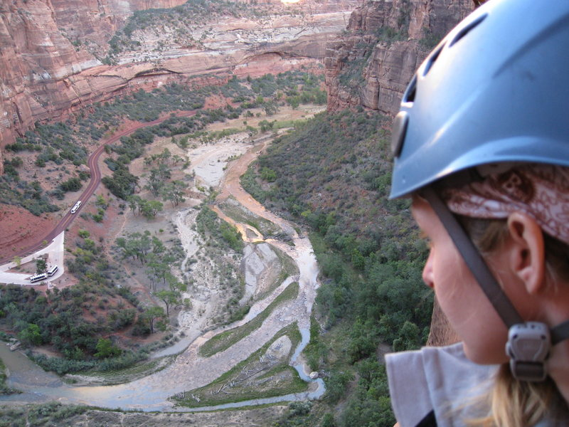Watching the shuttle buses (and being watched by the shuttle buses) as they come and go... again and again... Prodigal Son, Zion, Oct 2008.