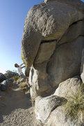 Rock Climbing Photo: Undercling traverse start of Manatee trad (Manatee...