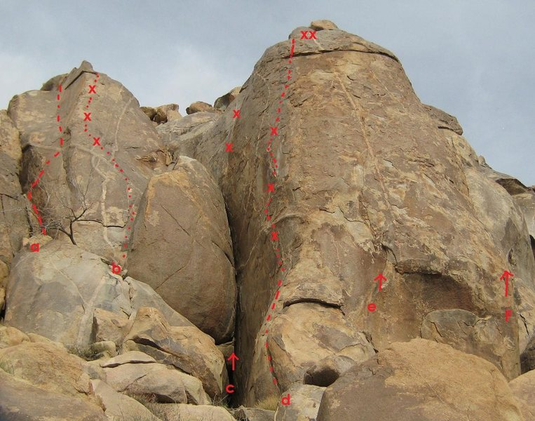 Rock Climbing Photo: a. Square Dancing 5.10b (TR)* b. Slap Prancing 5.8...
