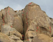 Rock Climbing Photo: d. Dance on Fire 5.11b/c ***