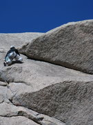 Rock Climbing Photo: Ryan leaving the 5.8 crack and stepping across on ...