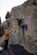 Rock Climbing Photo: Sending temps (it started snowing about 2 min afte...