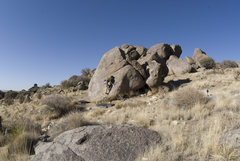 Rock Climbing Photo: Getting on.