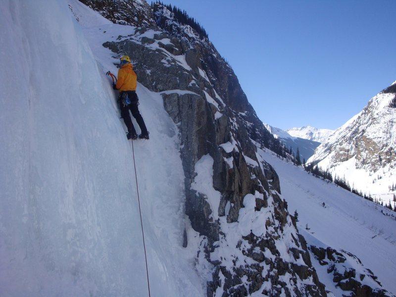 Rock Climbing Photo: Leading P1 STH