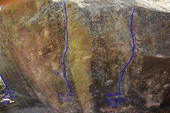 Rock Climbing Photo: The left side of the Lier, Lier boulder.