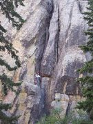 Rock Climbing Photo: The classic Wiessner route on inner outlet which w...
