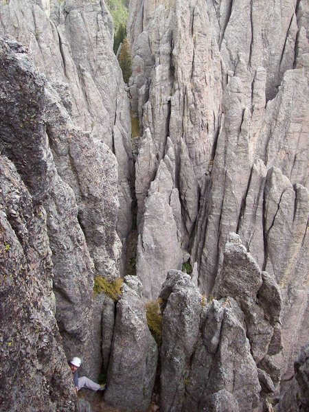 Behind spire Five.  Is there any room left for new routes?