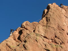 Rock Climbing Photo: Having fun on a warm January day.