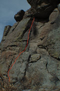 Rock Climbing Photo: The Ladder - follow the large crack through the sh...
