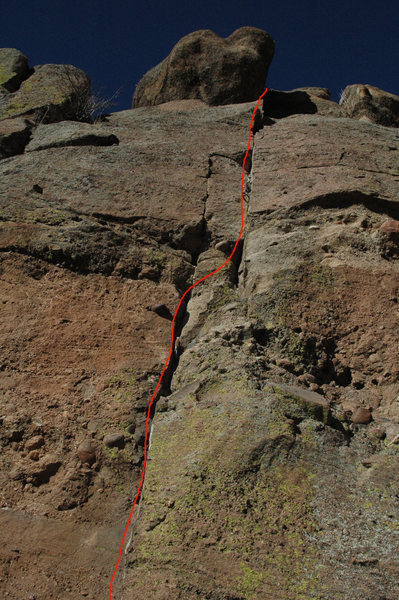 Rock Climbing Photo: Conspicuous Consumption - follow the crack.