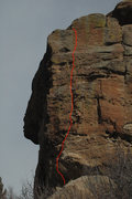 Rock Climbing Photo: Equinox - climb to the right of the corner.
