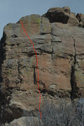 Rock Climbing Photo: Spring and Fall - head for the twin vertical crack...