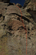 Rock Climbing Photo: Thickly Settled - climb the face to the right of &...