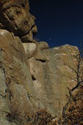 Rock Climbing Photo: Winter moon over South Canyon Point.
