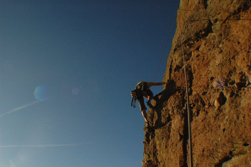 Rock Climbing Photo: Climber on Equinox.
