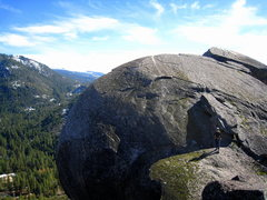 Rock Climbing Photo: Atop Sugarloaf, above the Grand Illusion roof.