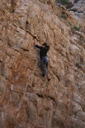 Rock Climbing Photo: Corina Carlson stylin' while working out the top s...