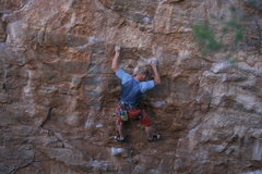 Rock Climbing Photo: Working the crux (for me) sequence. I thought I mi...