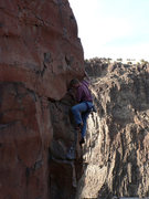 Rock Climbing Photo: Bill seconding up the route.