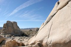 Rock Climbing Photo: June Goang nearing the top of Toe Jam