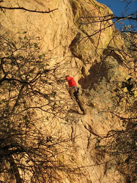 Rock Climbing Photo: About 1/3 of the way up.